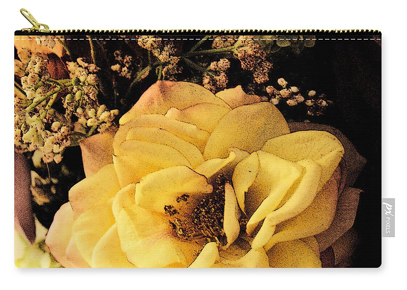 Bloom Carry-all Pouch featuring the photograph Pale Rose by Marna Edwards Flavell