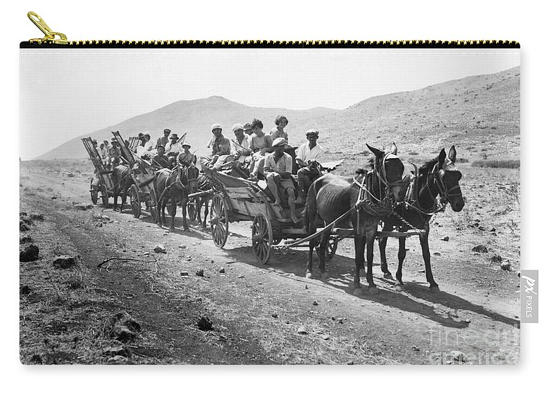1920 Carry-all Pouch featuring the photograph Palestine Colonists, 1920 by Granger