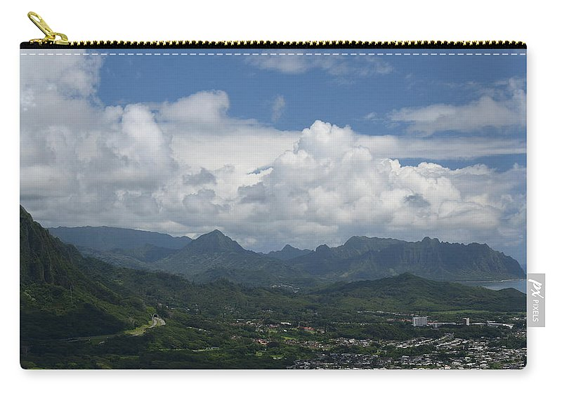 Pali Carry-all Pouch featuring the photograph Pali Overlook by Samantha Peel