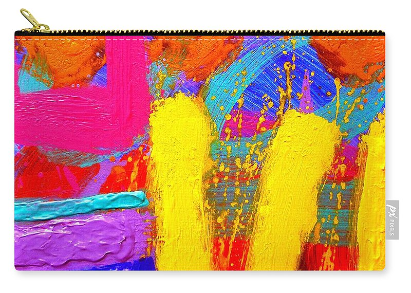 Abstract Carry-all Pouch featuring the painting Palimpsest Ix by John Nolan