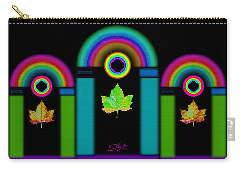 Classical Carry-all Pouch featuring the painting Palladian Fall by Charles Stuart