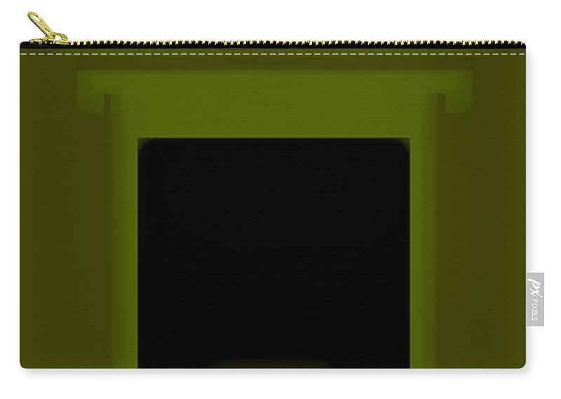 Palladian Carry-all Pouch featuring the painting Palladian Green by Charles Stuart