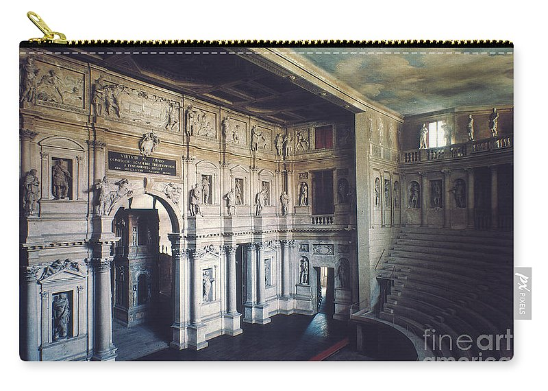 1579 Carry-all Pouch featuring the photograph Palladio: Teatro Olimpico by Granger