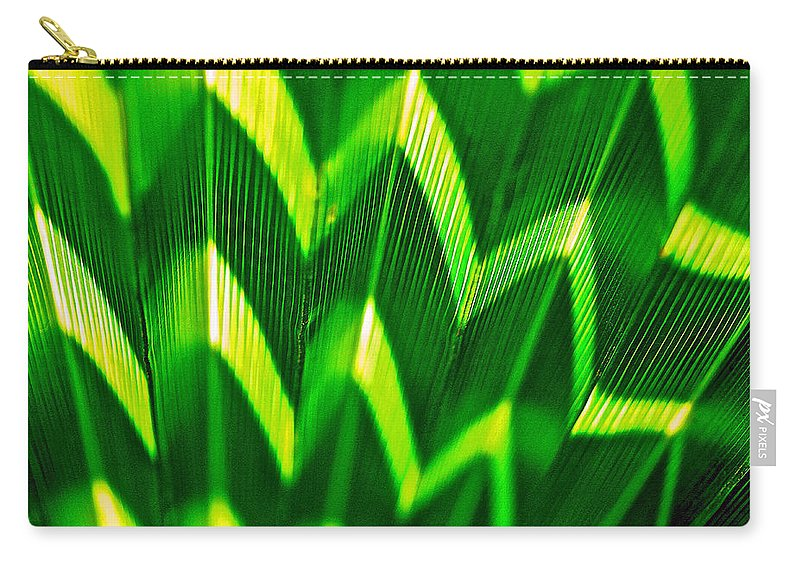 Palm Leaf Carry-all Pouch featuring the photograph Palm Abstract by Michael Cinnamond