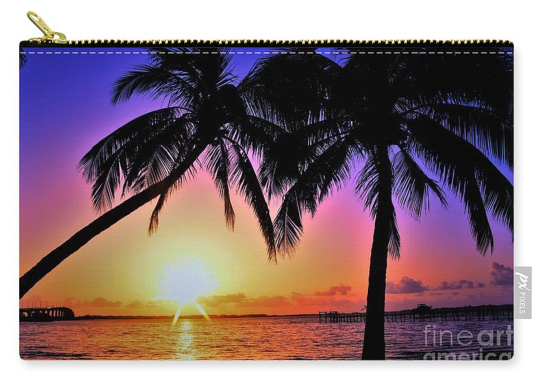 Palm Bliss Carry-all Pouch featuring the photograph Palm Bliss by Lisa Renee Ludlum