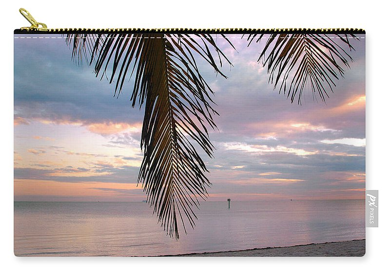 Palm Carry-all Pouch featuring the photograph Palm Courtain II by Susanne Van Hulst
