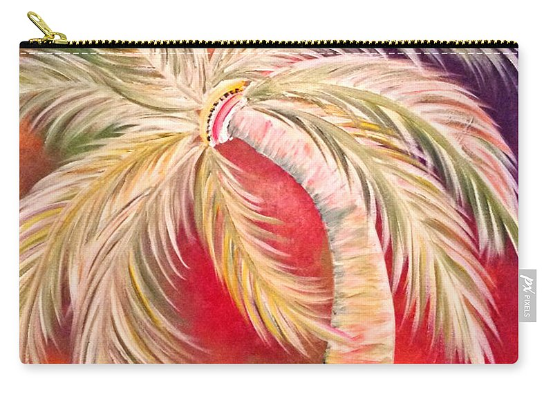 Palm Tree Carry-all Pouch featuring the painting Palm Diggity by Go Inspire Beauty