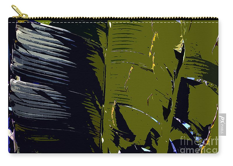 Palm Fronds Carry-all Pouch featuring the painting Palm Fronds by David Lee Thompson