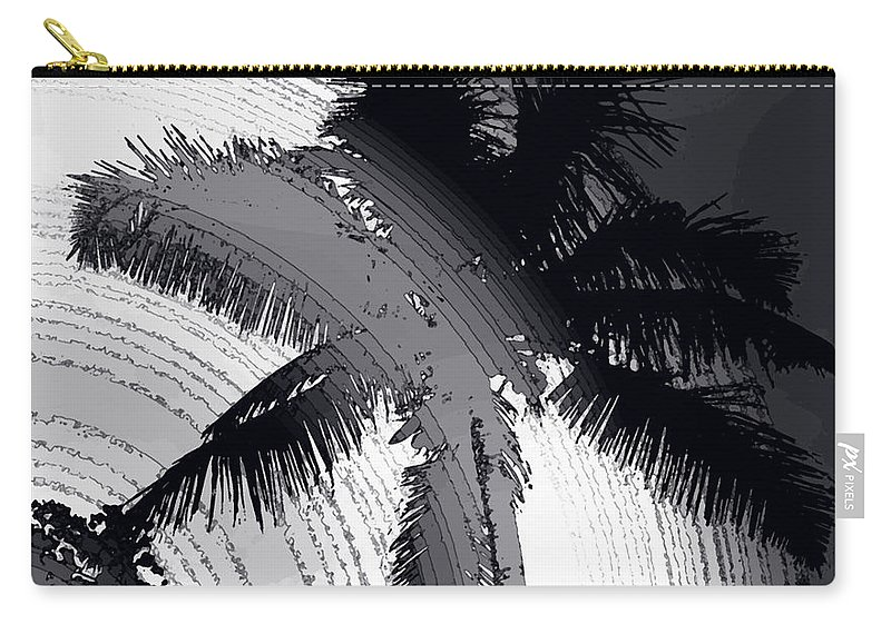 Palm Carry-all Pouch featuring the photograph Palm In Grey by Ian MacDonald