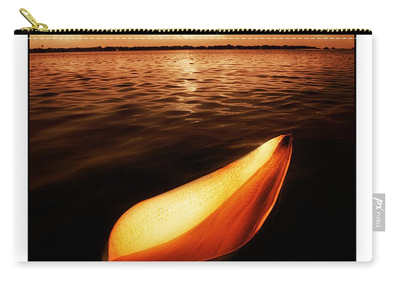 Palm Carry-all Pouch featuring the photograph Palm Leaf Sheath Boat by Mal Bray