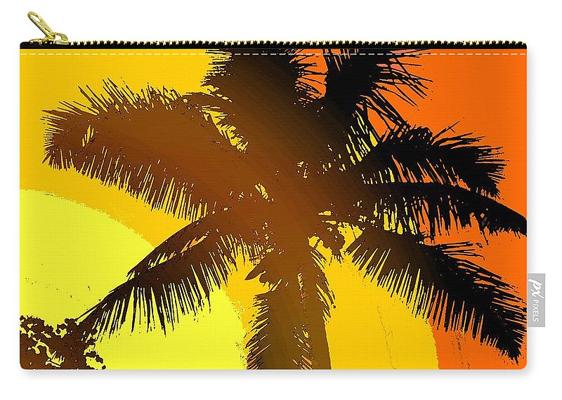 Palm Carry-all Pouch featuring the photograph Palm On The Half Shell by Ian MacDonald