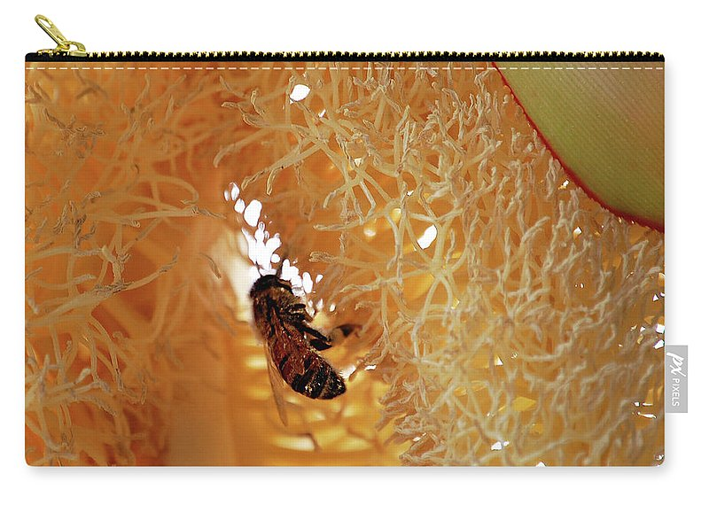 Palm Carry-all Pouch featuring the digital art Palm Pollination by DigiArt Diaries by Vicky B Fuller