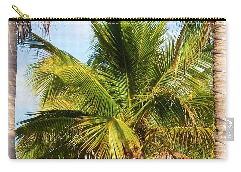 Palm Carry-all Pouch featuring the photograph Palm Portrait by Nelson Strong