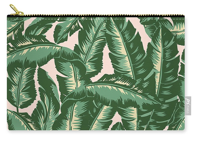 Leaves Carry-all Pouch featuring the digital art Palm Print by Lauren Amelia Hughes