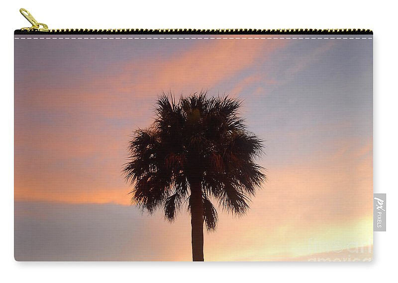 Palm Tree Carry-all Pouch featuring the photograph Palm Sky by David Lee Thompson
