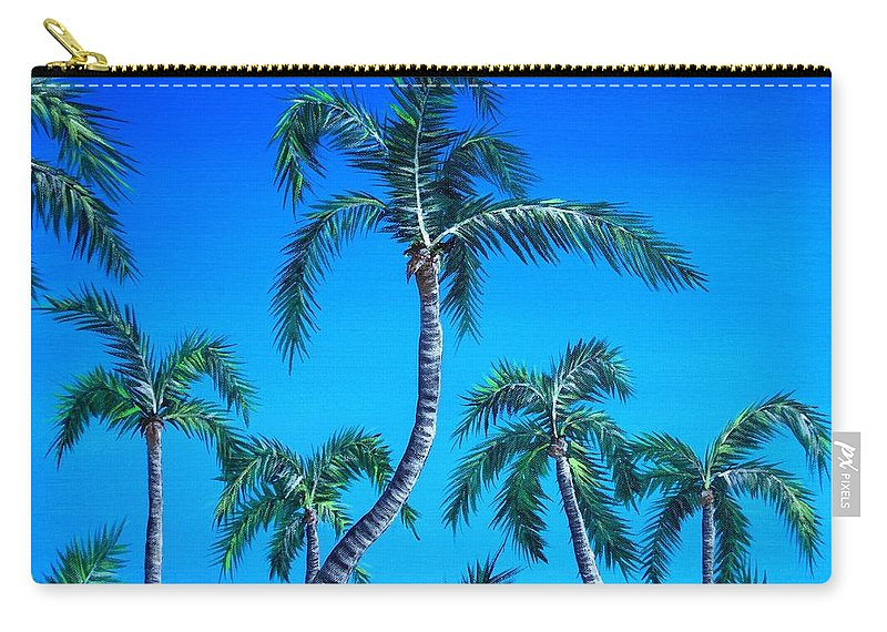 Palm Carry-all Pouch featuring the painting Palm Tops by Anastasiya Malakhova