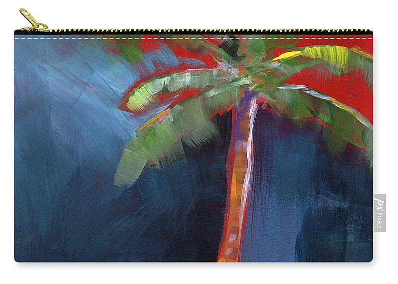 Palm Tree Carry-all Pouch featuring the painting Palm Tree- Art By Linda Woods by Linda Woods