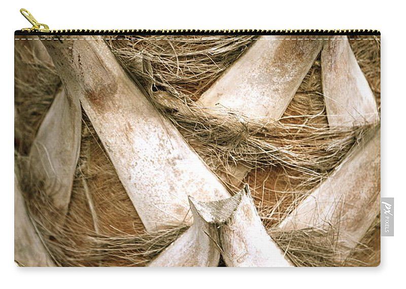 Bark Carry-all Pouch featuring the photograph Palm Tree Bark by Nadine Rippelmeyer