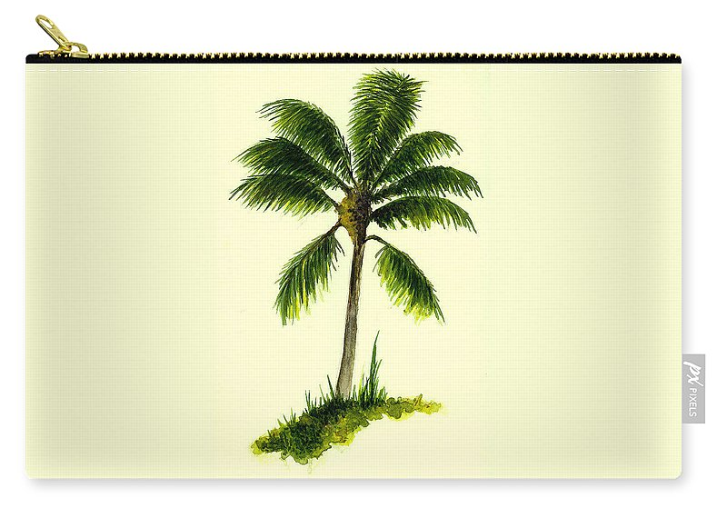 Tree Carry-all Pouch featuring the painting Palm Tree Number 1 by Michael Vigliotti