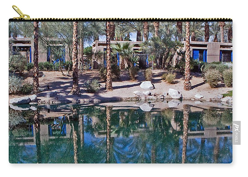 Palm Trees Carry-all Pouch featuring the photograph Palm Tree Reflections by David Campbell
