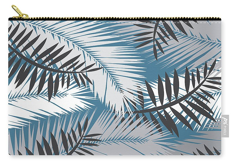 Summer Carry-all Pouch featuring the digital art Palm Trees 10 by Mark Ashkenazi