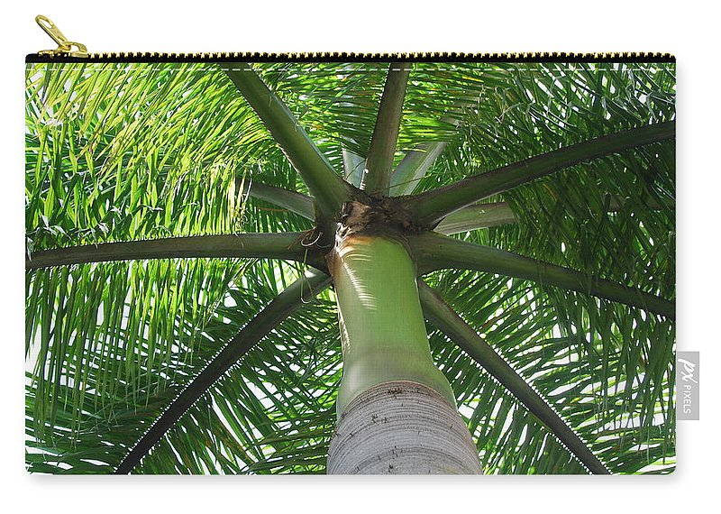 Macro Carry-all Pouch featuring the photograph Palm Unbrella by Rob Hans