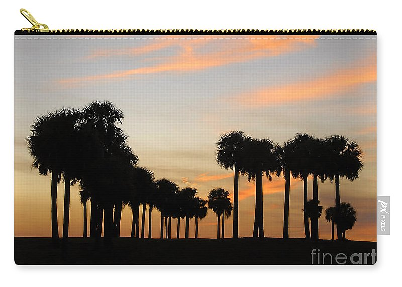 Palm Trees Carry-all Pouch featuring the photograph Palms At Sunset by David Lee Thompson
