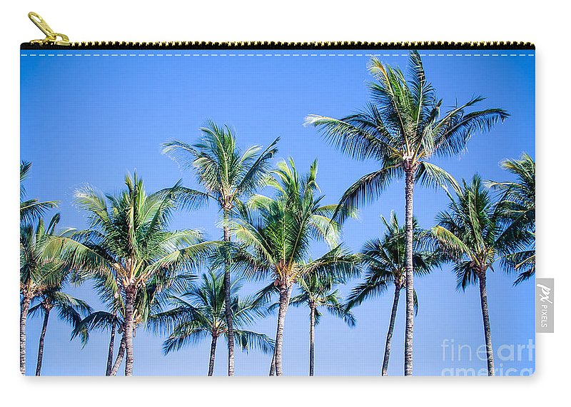 Palms In Living Harmony Carry-all Pouch featuring the photograph Palms In Living Harmony by Sharon Mau