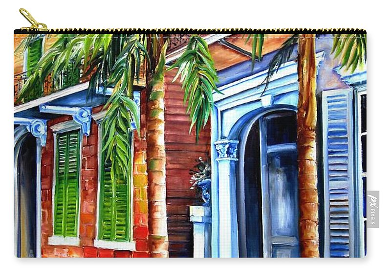 New Orleans Carry-all Pouch featuring the painting Palms On Esplanade Avenue by Diane Millsap