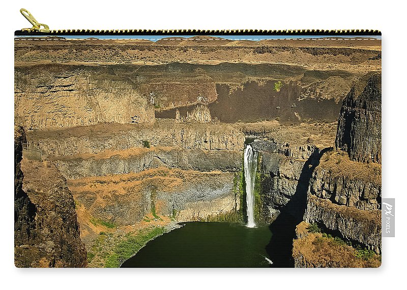 Palouse Falls Carry-all Pouch featuring the photograph Palouse Falls by Albert Seger