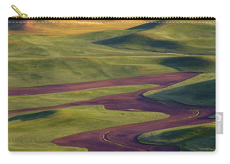 Palouse; Hills Carry-all Pouch featuring the photograph Palouse Hills by Mike Dawson