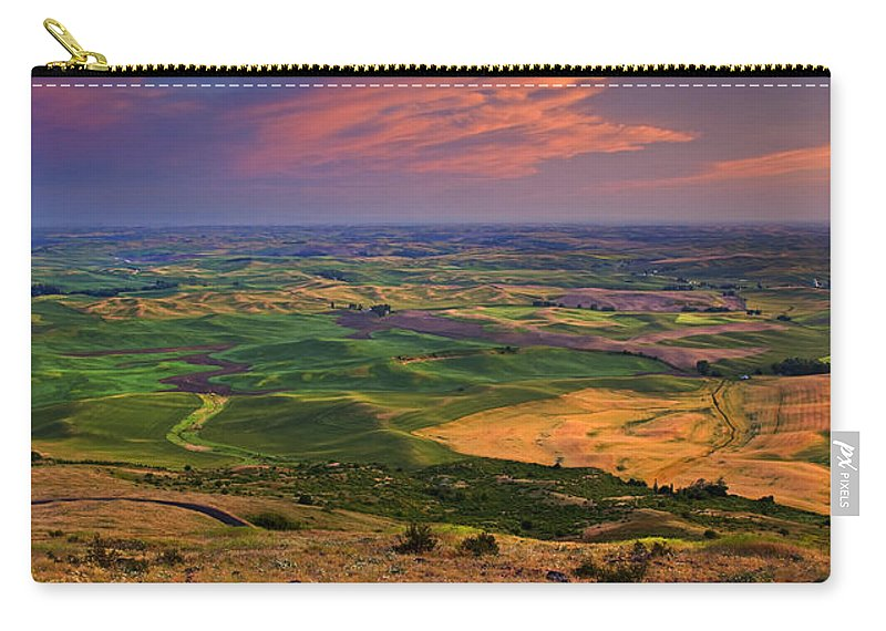 Palouse Carry-all Pouch featuring the photograph Palouse Skies Ablaze by Mike Dawson