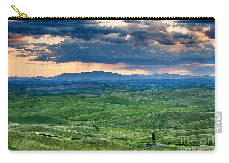 Palouse Hills Carry-all Pouch featuring the photograph Palouse Storm by Mike Dawson