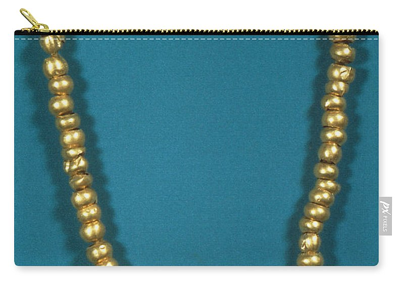 1000 Carry-all Pouch featuring the photograph Panama: Gold Beads, C1000 by Granger