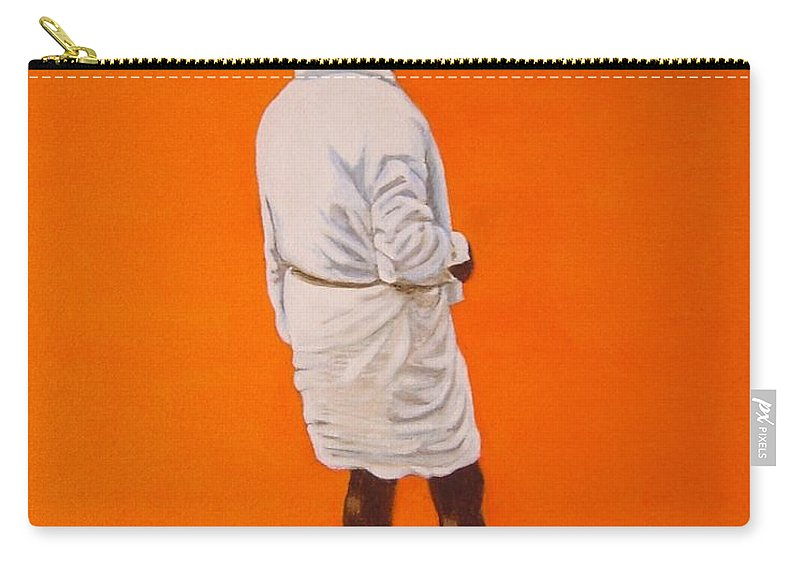 Lungi Carry-all Pouch featuring the painting Panche by Usha Shantharam
