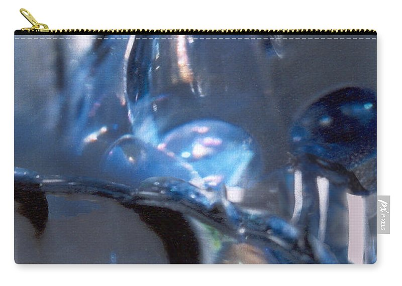Glass Carry-all Pouch featuring the photograph Panel 2 From Swirl by Steve Karol