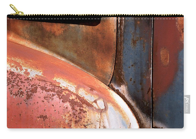 Abstract Carry-all Pouch featuring the photograph Panel from Ole Bill by Steve Karol