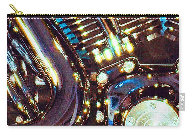 Harley Davidson Carry-all Pouch featuring the photograph Panel II from Mechanism by Steve Karol