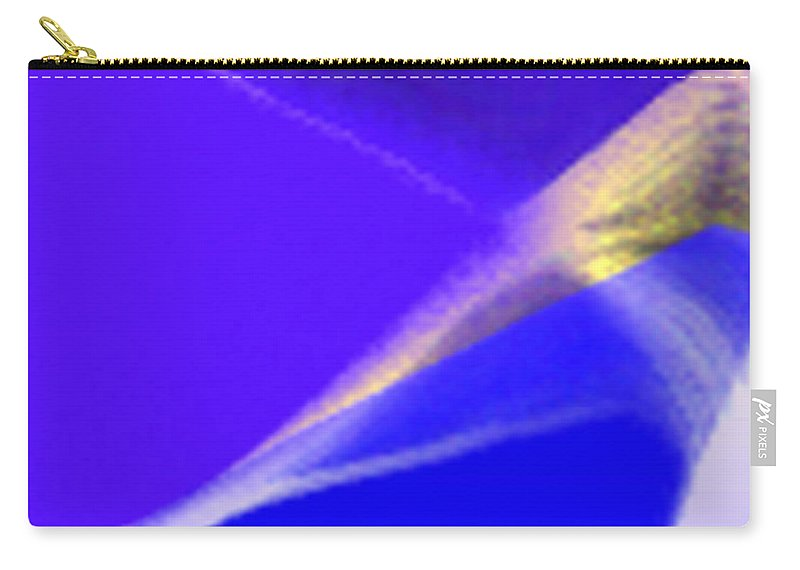 Abstract Carry-all Pouch featuring the digital art panel three from Movement in Blue by Steve Karol