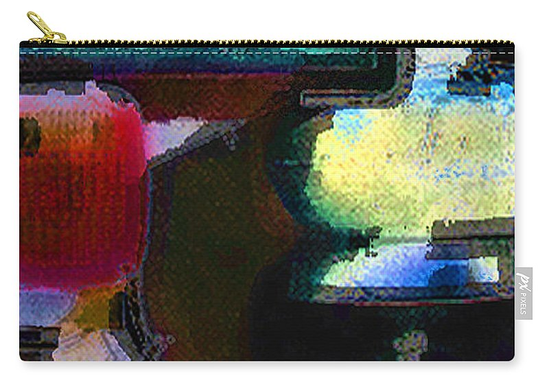 Abstract Carry-all Pouch featuring the photograph panel two from Centrifuge by Steve Karol