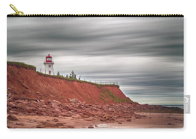 Panmure Island Lighthouse Carry-all Pouch featuring the photograph Panmure Island Lighthouse by Darlene Munro