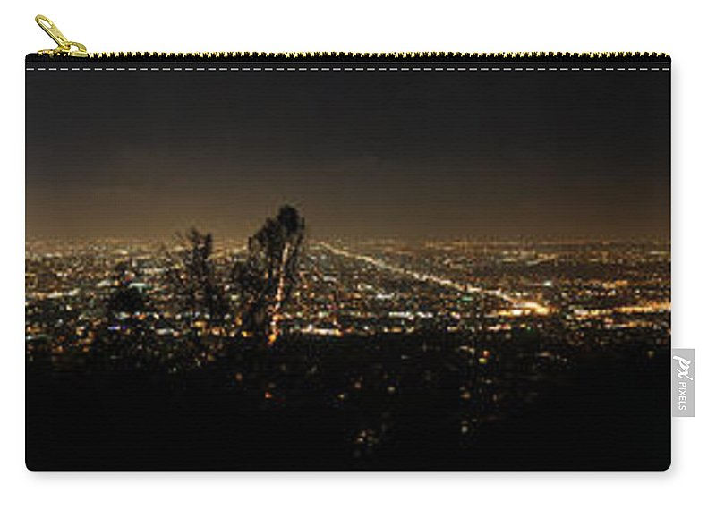 Clay Carry-all Pouch featuring the photograph Pano From Griffeth Observatory by Clayton Bruster