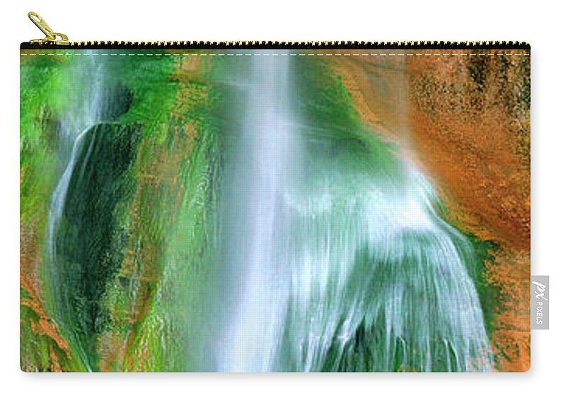 Utah Landscape Carry-all Pouch featuring the photograph Panorama Lower Calf Creek Falls Escalante Nm Utah by Dave Welling