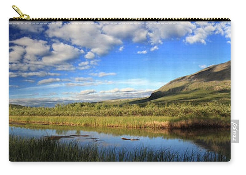 Panorama Carry-all Pouch featuring the photograph Panorama Of Abisko National Park Sweden by Sandra Rugina