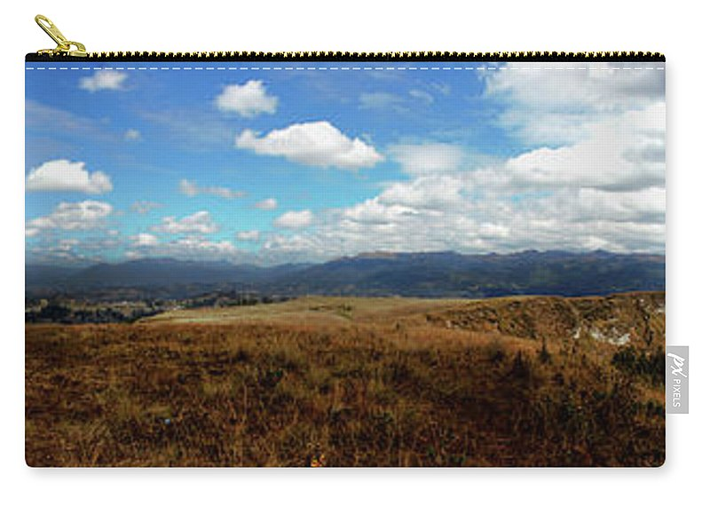 Pachamama Carry-all Pouch featuring the photograph Panorama Of Pachamama IIi by Al Bourassa