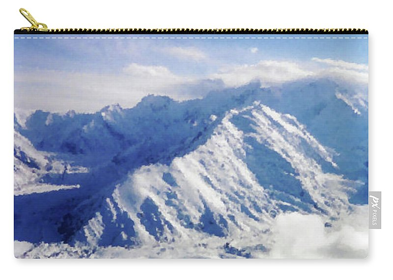 Alaska Carry-all Pouch featuring the photograph Panoramic Peaks by Kristin Elmquist