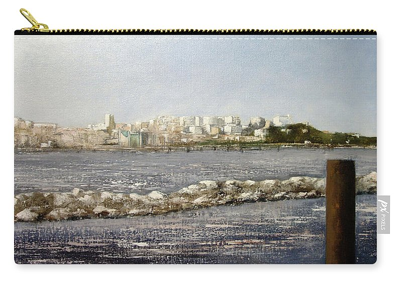 Santander Carry-all Pouch featuring the painting Panoramica Santander desde Raos by Tomas Castano
