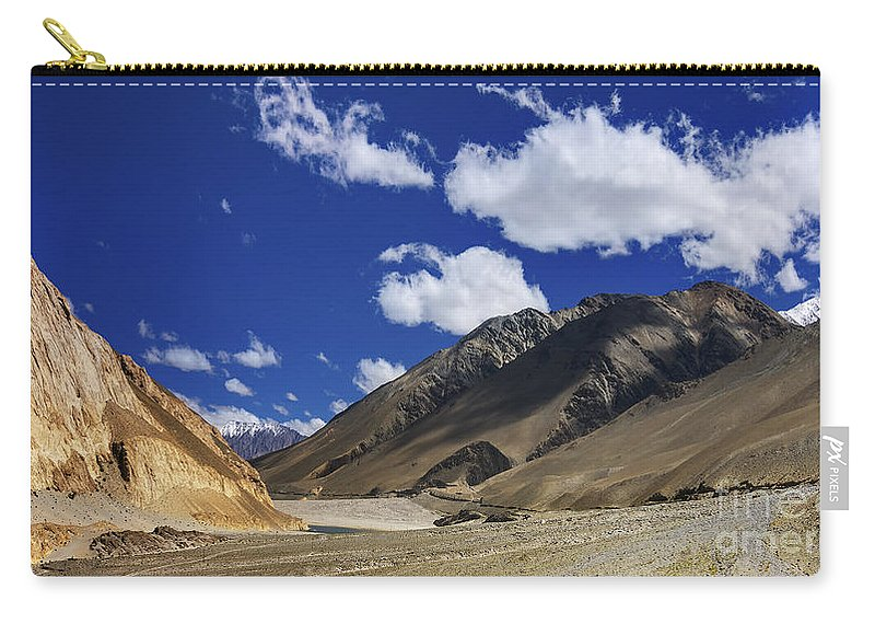 Ladakh Carry-all Pouch featuring the photograph Panrama Of Mountains Ladakh Jammu And Kashmir India by Rudra Narayan Mitra