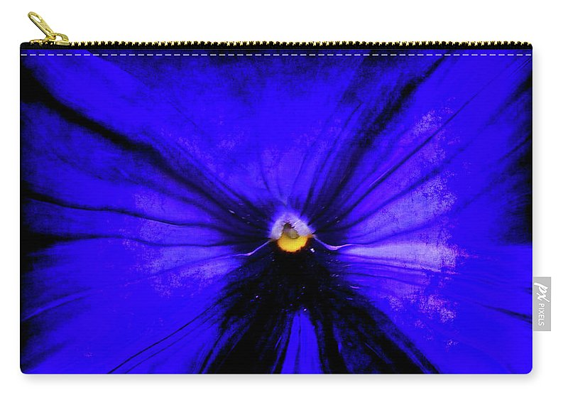 Abstract Carry-all Pouch featuring the digital art Pansy Abstract Grunge by Ernie Echols