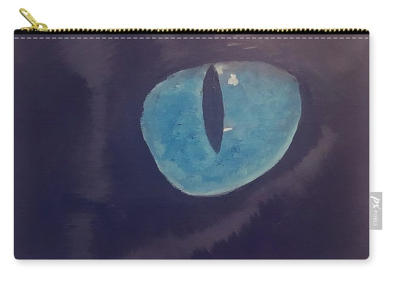 Carry-all Pouch featuring the painting Panther by Kaylyn Groom